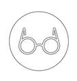 glasses icon design vector image vector image