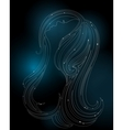 Glowing silhouette of a young woman vector image vector image