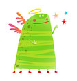 green kids creature monster many legs wings stars vector image vector image
