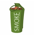 Hand grenade smoke bomb icon vector image