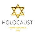 holocaust remembrance day January 27 vector image vector image