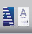 initial letter a logo cutting line design concept vector image