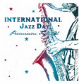 international jazz day background vector image vector image
