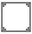 irish celtic square frame design - retro vector image vector image