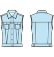 Jean vest Front and back vector image vector image