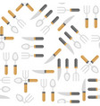 knife spoon and fork seamless pattern vector image