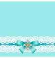 Lace border with bow vector image vector image