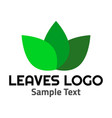 leaves logo symbol icon sign vector image