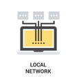 local area network vector image vector image