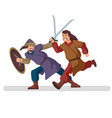 medieval fight on swords ancient battlefield