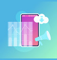 mobile graph synchronization cloud application vector image vector image
