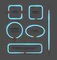 Neon frame set vector image