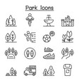 park icon set in thin line style vector image vector image