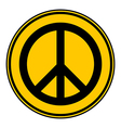 Peace symbol buttom vector image vector image