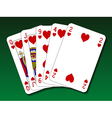 Poker hand - Flush vector image vector image