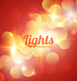 Red Bokeh Abstract Light Background vector image vector image