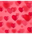 red valentine hearts background vector image vector image