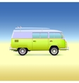 Retro bus with surf boards vector image vector image