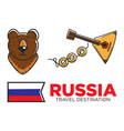 russia travel symbols for russian tourist