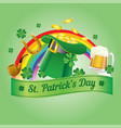 saint patricks hat with gold coins vector image vector image