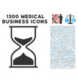 sand glass icon with 1300 medical business icons vector image vector image