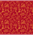 seamless barbecue pattern vector image vector image