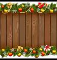 Seamless Christmas Wooden Board vector image vector image