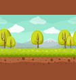 seamless landscape background cartoon horizontal vector image