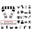 Set of 24 Football Fans Icons vector image vector image