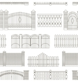 Set of gates and fences vector image vector image