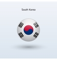 South Korea round flag vector image