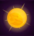 space sun icon cartoon style vector image