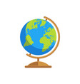 stylized an earth globe vector image vector image