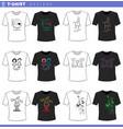 t shirt decorative designs concept set vector image vector image
