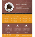 Template coffee web site vector image vector image