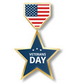 veterans day star icon logo realistic style vector image vector image