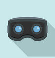 vr glasses icon flat style vector image