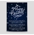 Winter brochure template with snowflakes vector image vector image