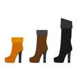 women boots flat vector image
