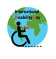 world disability day vector image vector image