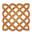 celtic square with texture vector image