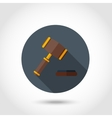 Gavel flat icon vector image