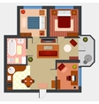 Flat or apartment with rooms top view vector image
