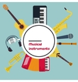 Round Concept Musical Instruments vector image