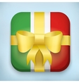 Design Italy Gift Icon for Web and Mobile vector image