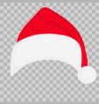 santa hat on transparent background vector image