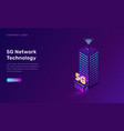 5g network technology isometric concept vector image vector image