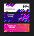 abstract motion banners colorful geometric shapes vector image vector image