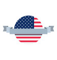 american flag round banner sign vector image vector image