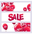 balloons with discount sign vector image vector image